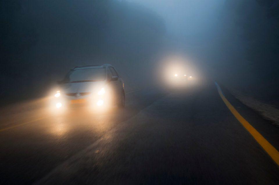 رانندگی در مه