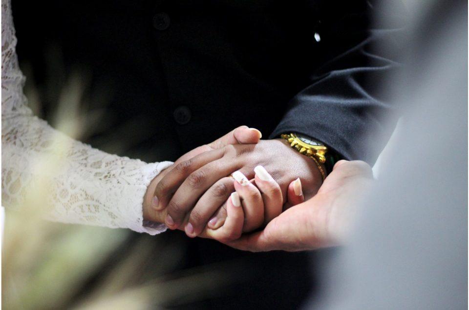 Holding a wedding ceremony