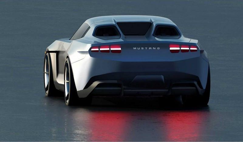 خودرو فورد - انتشار طراحی خودرو فورد موستانگ الکتریکی کوپه مدل 2030